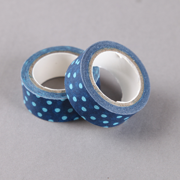 Blue, Navy & Turquoise Washi Tapes Plain & Patterned for Crafts